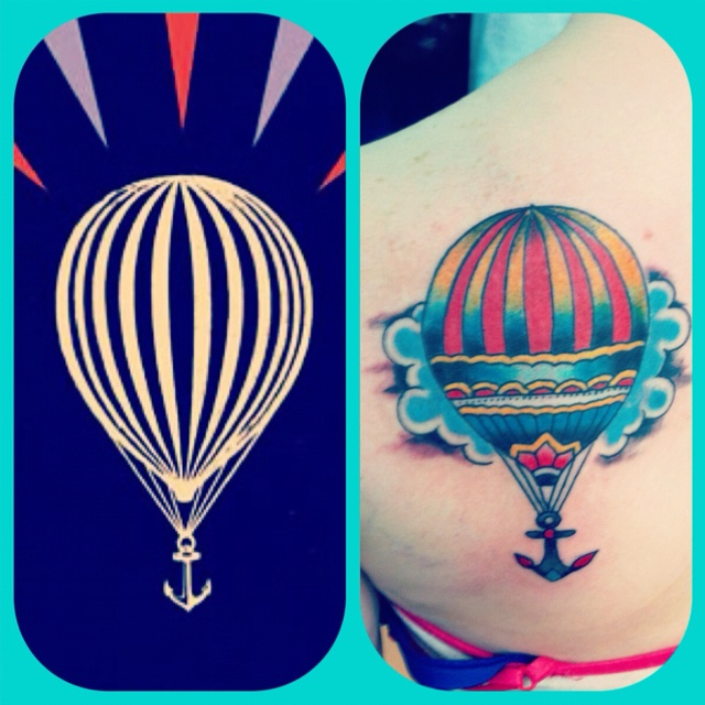 Modest mouse tattoo with wonderful variations in design for Anchor balloon decoration