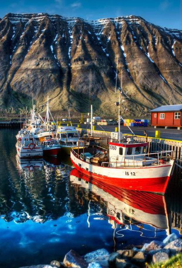 Au cœur des fjords de Vestfirðir, au nord-est de l'Islande, est connue pour les nombreux fjords qui émaillent son territoire. La ville d'Isafjördhur constitue un point de départ idéal pour une croisière à travers ces langues de mer qui pénètrent, par endroits, profondément dans les terres. Cette cité, développée grâce à l'industrie de la pêche, se trouve au cœur d'un fjord: le Skutulsfjörður. On apprécie ces lieux propices à de longues balades au cœur de paysages à la fois bruts et…