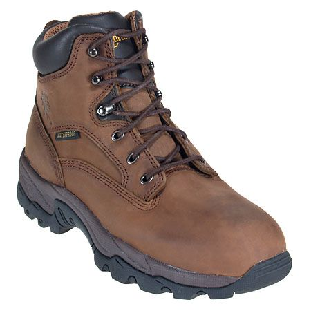 Chippewa Boots Men's Waterproof 55160 Brown Leather 6 Inch Work Boots