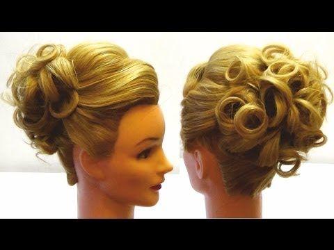 Вечерняя прическа. Праздничная прическа .Evening hairstyle - YouTube