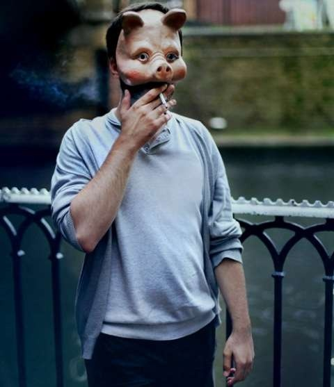 "Cansu Turan ""A Mask Project"" smoking pig"