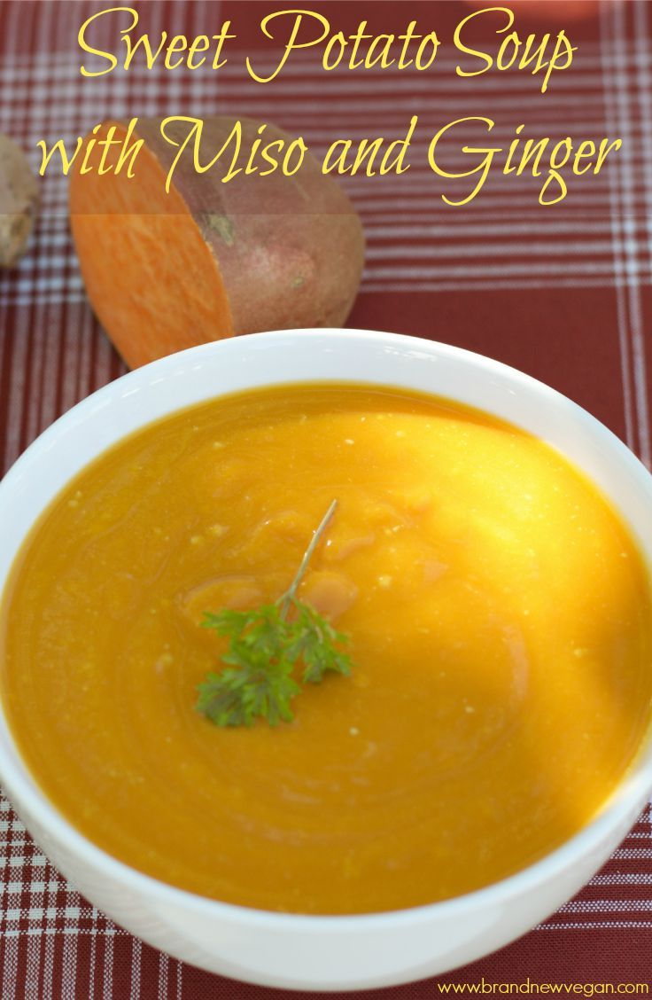 A delicious and super healthy Sweet Potato Miso Soup with lots of Ginger flavor, overflowing with vitamins, minerals, and gut healing probiotics. You're tummy will thank you!