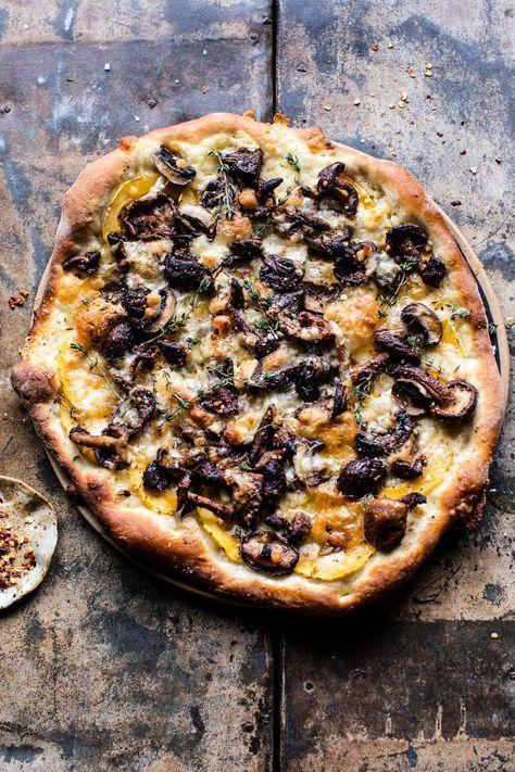 Balsamic Mushroom and Goat Cheese Pizza | http://halfbakedharvest.com /hbharvest/