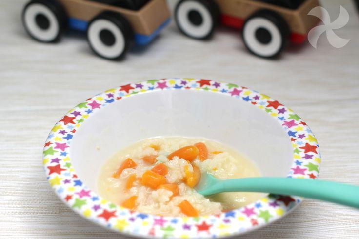 Arroz de zanahoria express de emergencia para cuando algún peque está malito de la tripa.