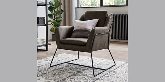 Buy Holborn Chair (1 Seat) Monza Faux Leather Charcoal ...