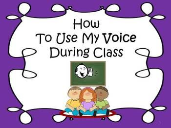 A Social Story To Teach Children How To Use Their Voice During Class #social stories #special education
