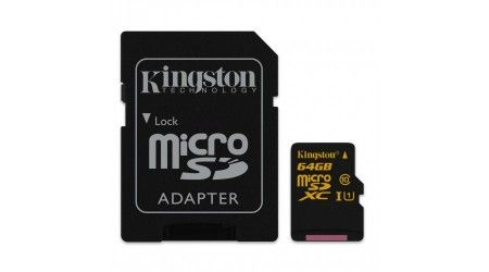 64GB Micro SDXC Kingston UHS-I class 10 + adapter