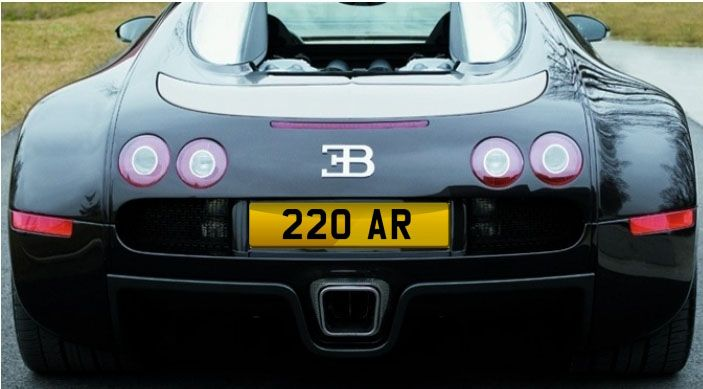 220 AR - reg plate Stunning AR number plate  cheap at £7105 all inclusive www.registrationmarks.co.uk