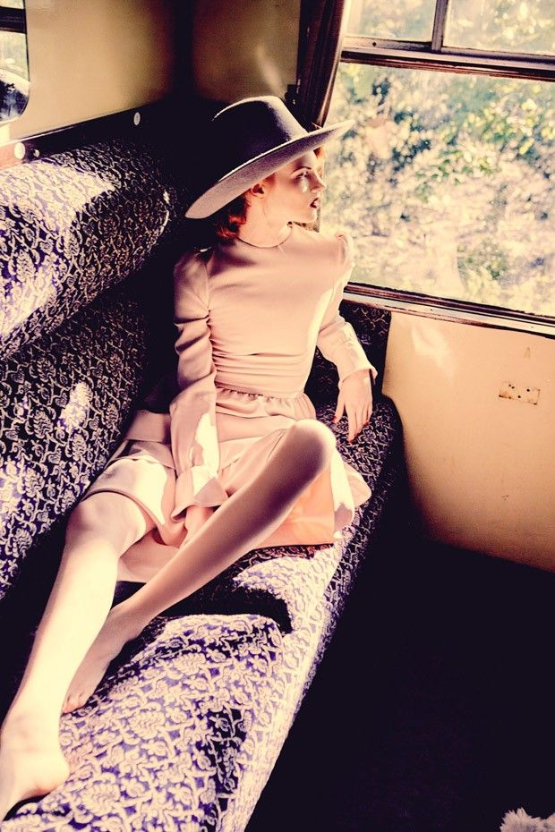 Hop on a Train: Anastacia Ivanova and Frances Coombe by Ellen Von Unwerth for Vogue Italia Suggestions September 2015