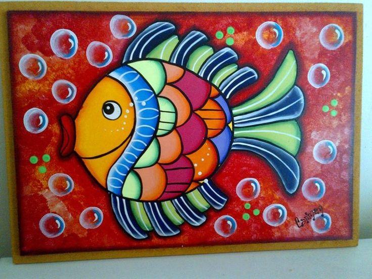 M s de 25 ideas incre bles sobre pinturas de peces en - Como pintar un cuadro moderno ...