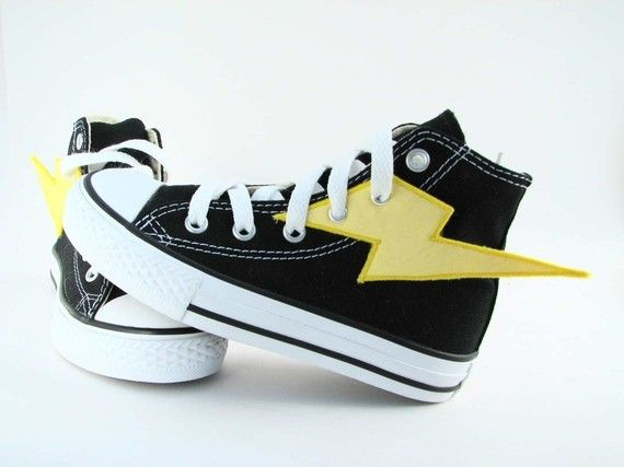 Sneaker add-ons. Lightning bolts or wings. Turn your tennis shoes into superhero shoes!