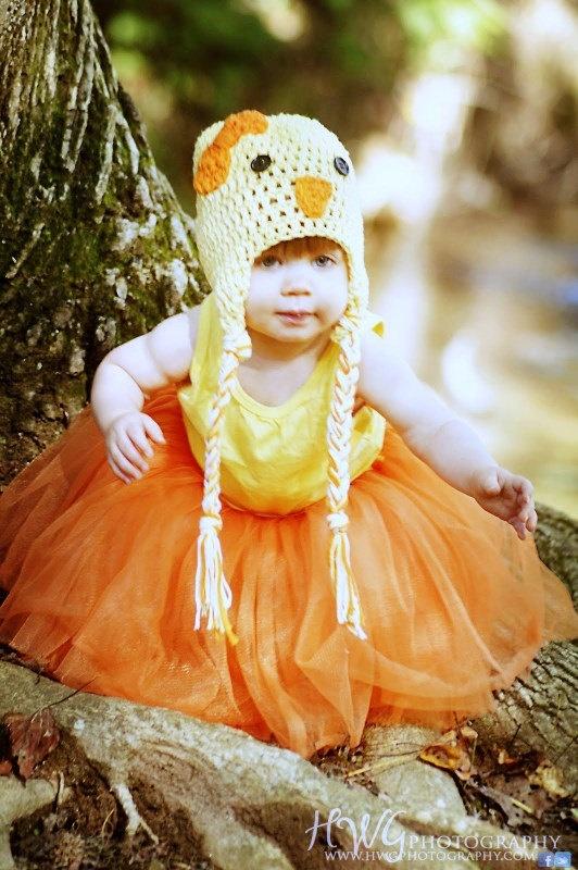 Crochet Baby Chick Hat Beanie with Braids Yellow: Crochet Baby, Baby Toddlers, Baby Chicks