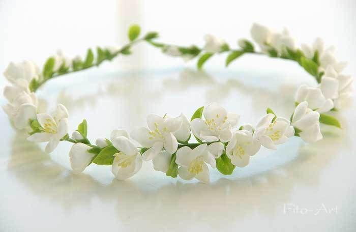 Цветы ручной работы - Коллекция свадебный веночков 2014