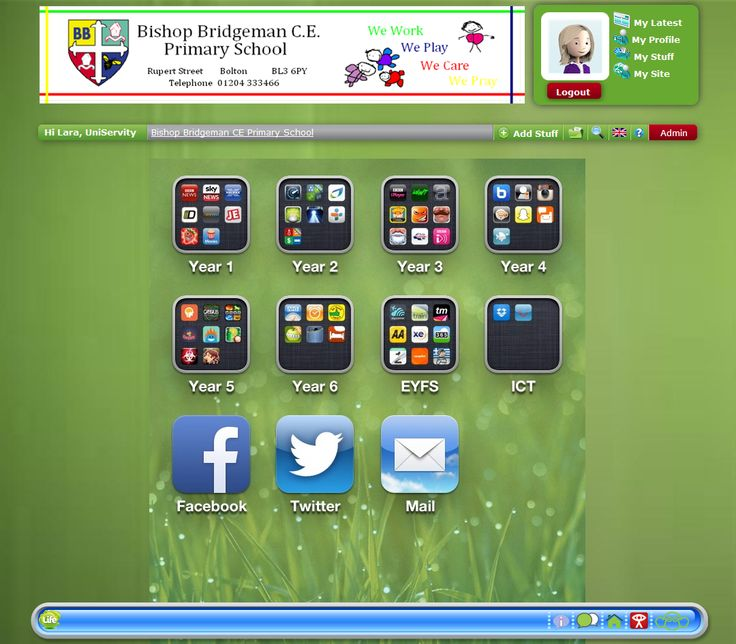 We chose Bishop Bridgeman as the first featured site of this academic year as we loved their 'Apple' style navigation!
