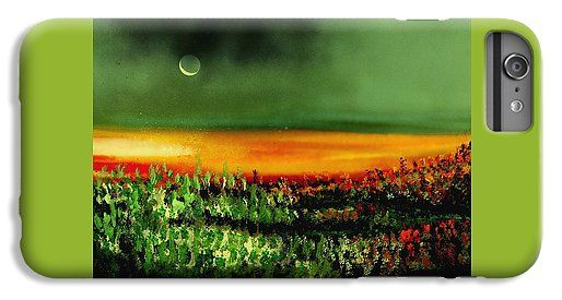 Twilight Field IPhone 6s Plus Case Printed with Fine Art spray painting image Twilight Field by Nandor Molnar (When you visit the Shop, change the orientation, background color and image size as you wish)