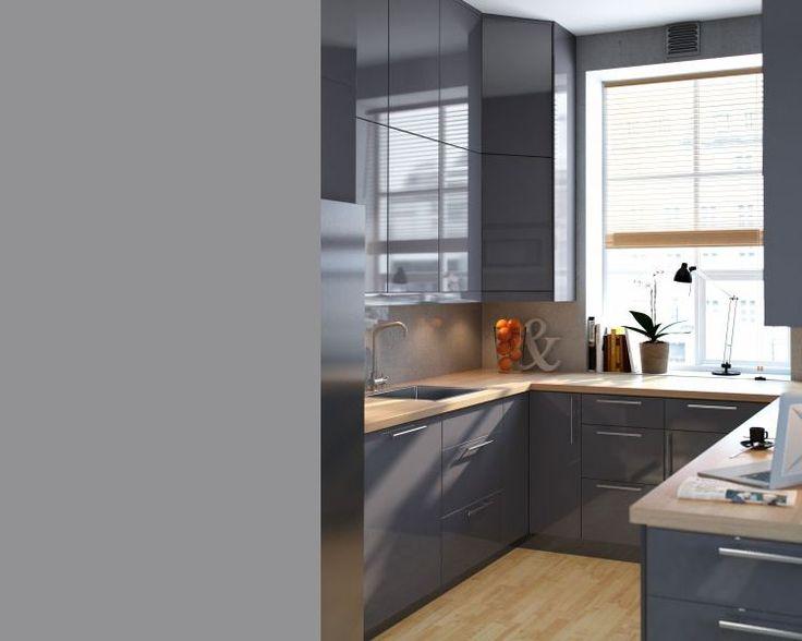 17 beste idee n over grijs kookeiland op pinterest grijs keukens kabinet kleuren en grijze - Keuken grijs en blauw ...