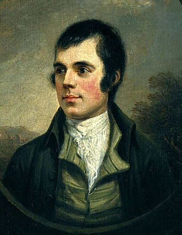 Robert Burns Day. This is an image of the poet, Robert Burns. Last Friday was Burns Day. Traditionally, people eat Scottish food (haggis), drink Scotch, and recite Burns' poetry. He's my favorite poet, and we're Scotish, but we were sick on Burns Day, so we're doing it this week instead. I plan to print this for the table. For scrapbooking, altered art, gift tags, framing, cards.