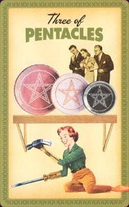 Three of Pentacles - Housewives Tarot