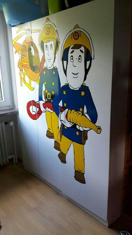 Kinderzimmer Kleiderschrank Feuerwehrmann Sam Schrank