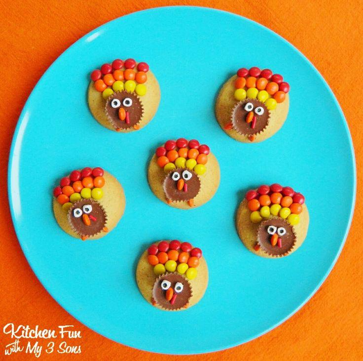 Easy Reese's Turkey Cookies