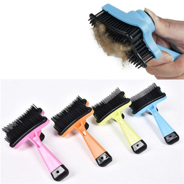 Dog Comb Brush with Handle Hair Grooming Tool Reduce Shedding | knittedPaws | Price: $7.70 + FREE Shipping     #dog #cat #pet #puppy #grooming #comb #brush