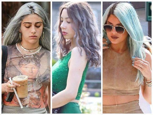 Lourdes Leon, Jennifer Bachdim dan Kylie Jenner dengan rambut pastel masing-masing