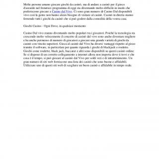 Casino dal VivoMolte persone amano giocare giochi da casinò, ma di andare a casinò per il giocodazzardo nel frenetico programma di oggi sta diventando molto. http://slidehot.com/resources/casino-dal-vivo-pdf-file.9430/