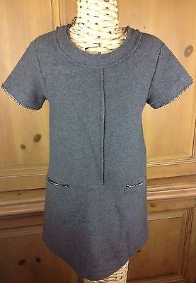 Zara Girls Soft Collection Gray Short Sleeve Dress Size US 6/7 CM 122