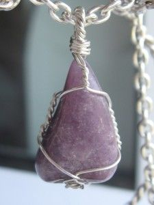 The last 6 hours of the giveaway! Lepidolite pendant wire wrapped in sterling silver
