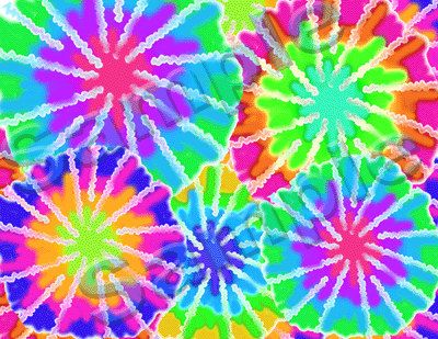 Tie dye rainbow wallpaper wall border decals for teen for Bright wallpaper for walls