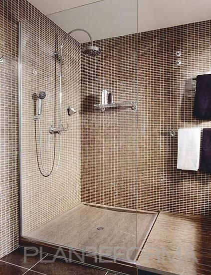 Ba o estilo contemporaneo color beige beige marron yard pinterest colors and ideas - Banos modernos con ducha ...