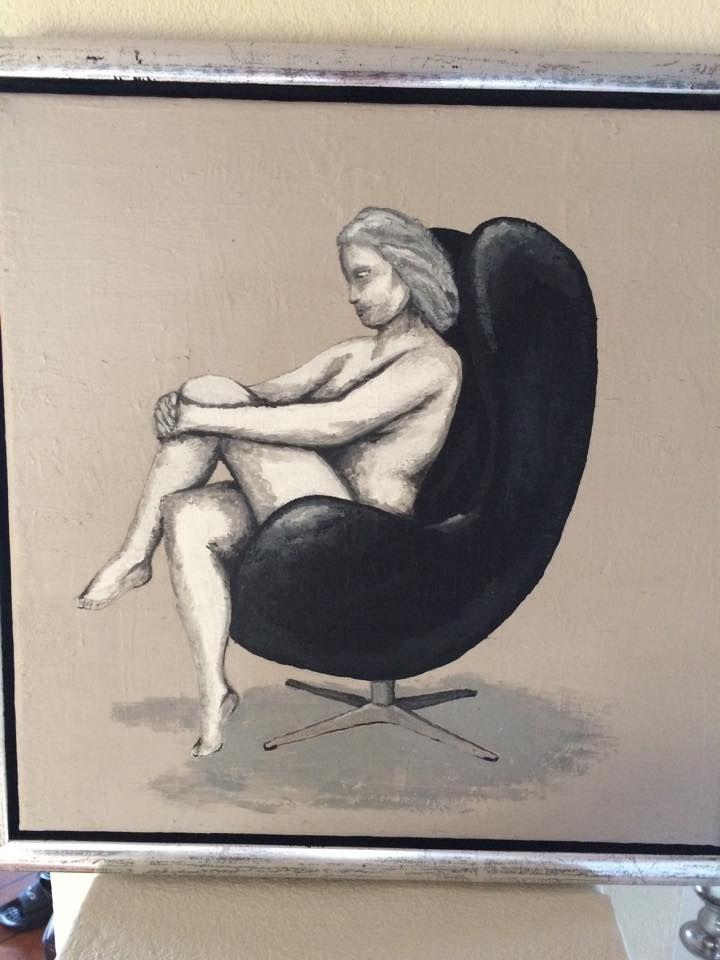 Et af mine værker fra 2011, kvinde i AJ Ægget