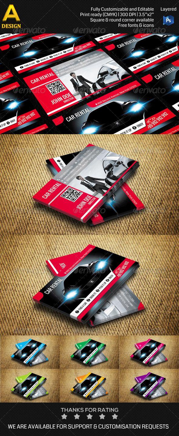 Car Rental Business Card AN0107