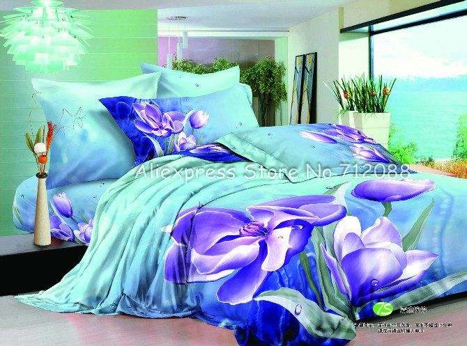ocean blue Bedding | ... ocean blue comforter covers home textile bedspread-in Bedding Sets