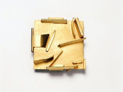 Hermann Jünger Gold brooch.