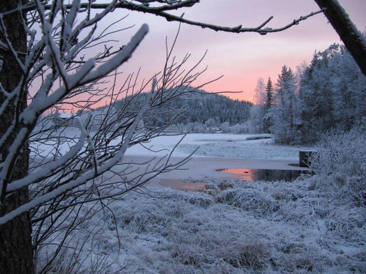 Immeljärvi alkutalvella. Lake Immeljärvi, early November