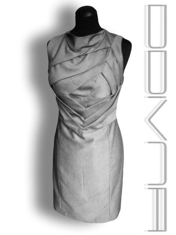 Origami dress Unusual shift dress Art to wear dress by FedRaDD