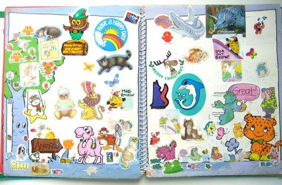 Sticker books = 80's scrapbooking