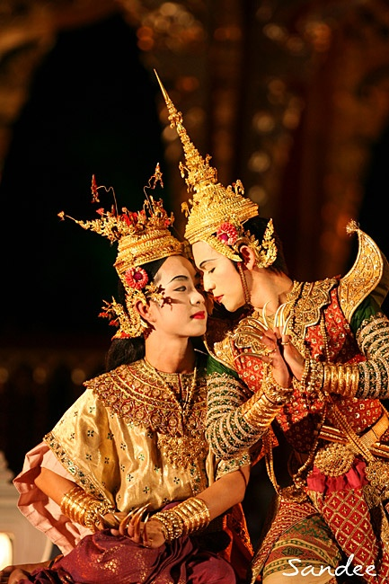 Traditional dance in Thailand.