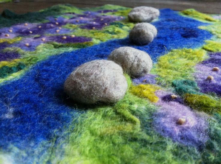 154 best waldorf wet felted playscape images on pinterest for Felted wool boulders