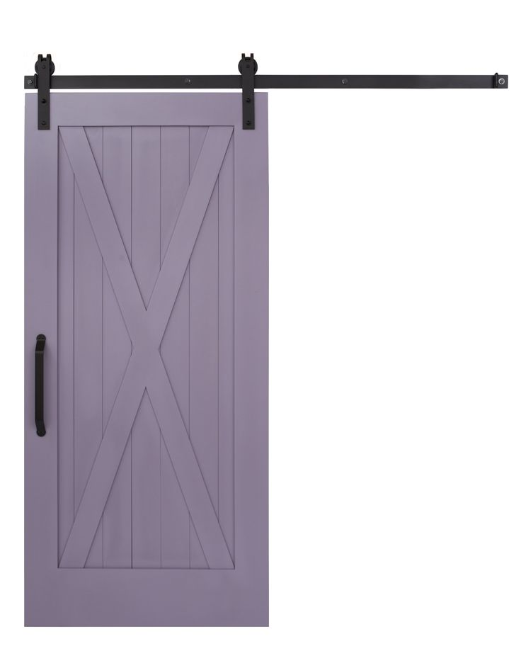 Full X Sliding Barn Door In Amethyst By Rustica Hardware