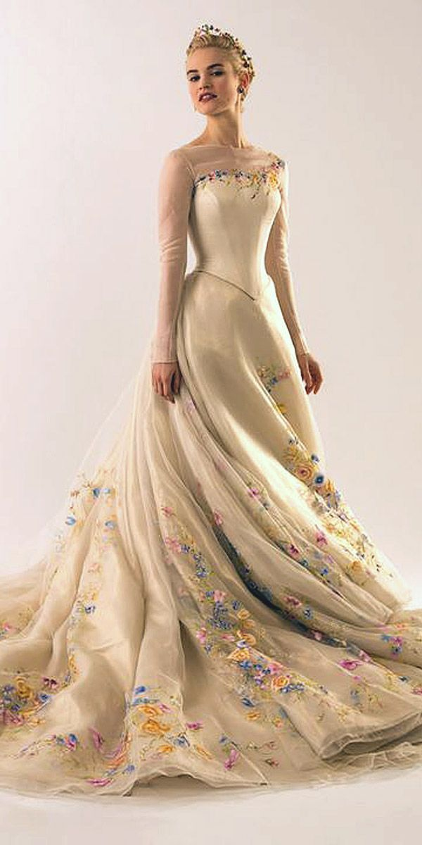 18 Disney Wedding Dresses For Fairy Tale Inspiration ❤ See more: http://www.weddingforward.com/disney-wedding-dresses/ #weddings #dress