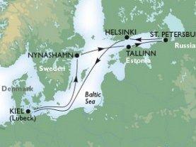 Kiel - Tallin - St Petersburg - Helsinki - Stockholm - Kiel