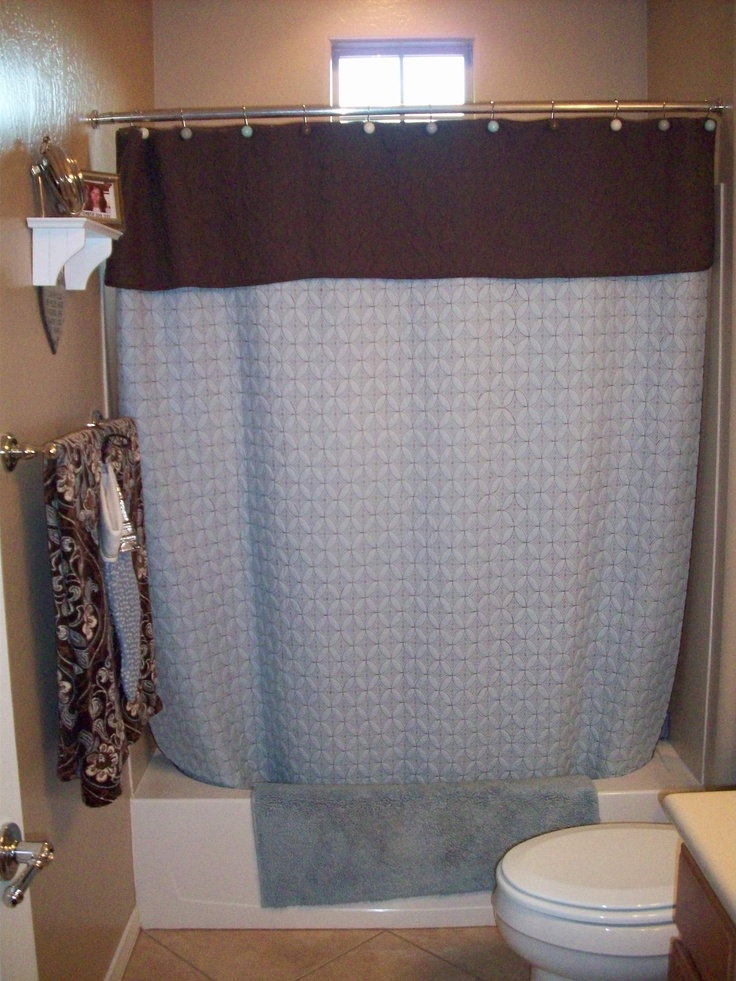 If You Canu0027t Find A Shower Curtain You Like A Twin Quilt, Duvet