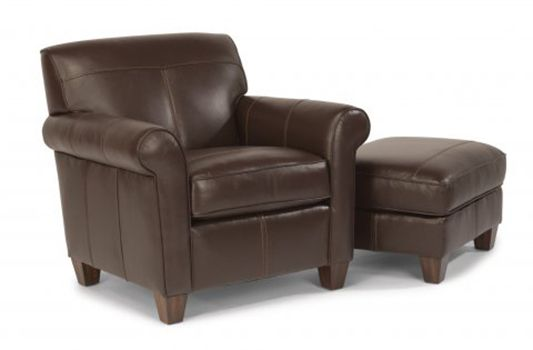 Dana Leather Chair Ottoman Has A Simple Line And Its Modest Scale Is Great  For