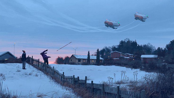 Nouveau Futur dystopique de Simon Stålenhag  (4)