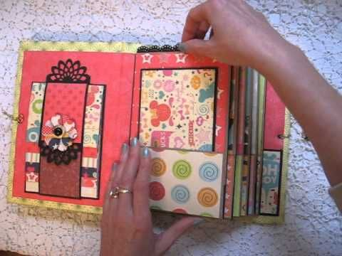 Disney Scrapbook Paper Bag Mini Album