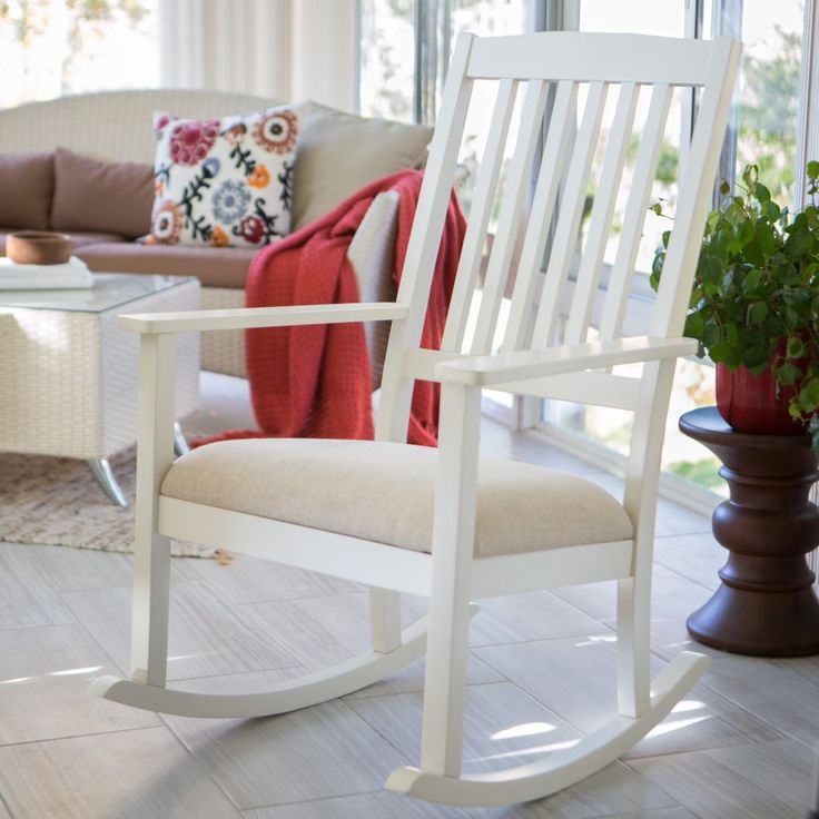 finley home upholstered mission wood nursery rocker vanilla putting baby down for a nap