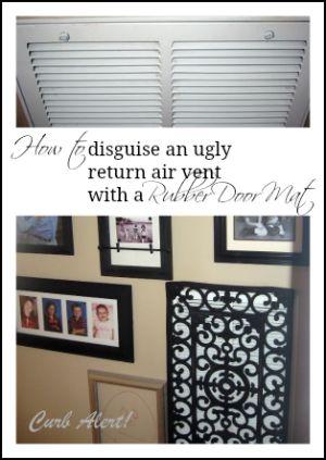 Curb Alert!: Repurposing a Rubber Door Mat to cover a Return Air Vent