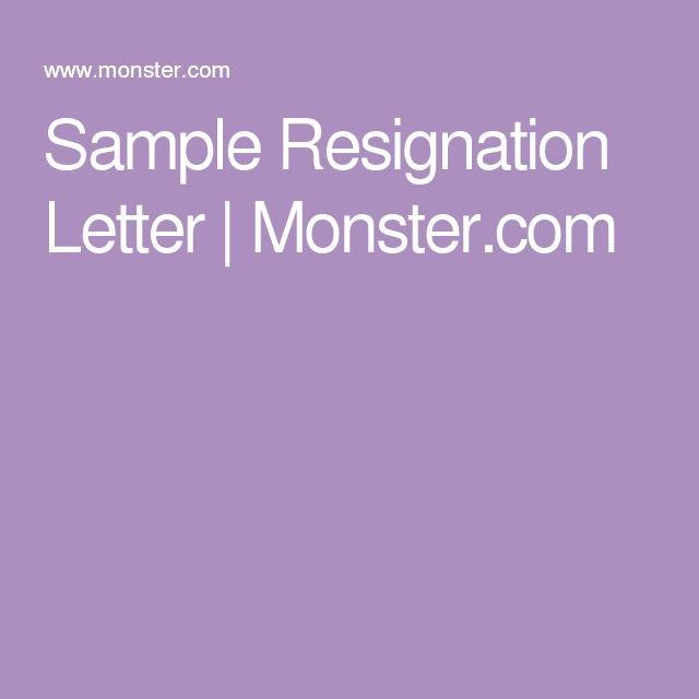 25+ legjobb ötlet a következőről Formal Resignation Letter Sample - basic letter of resignation